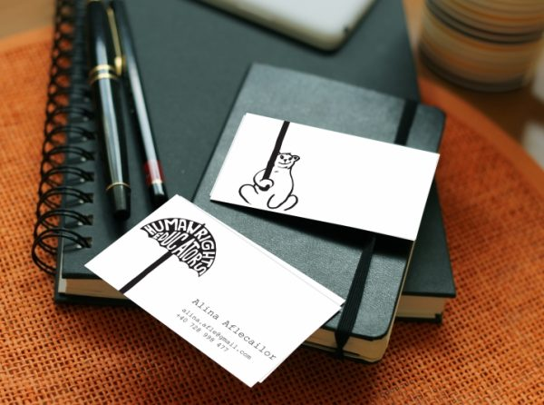 Bear business card